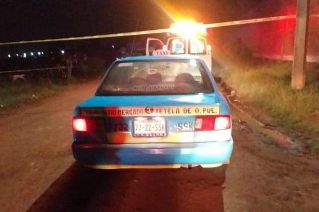 Matan a taxista en pleno centro de Chignahuapan