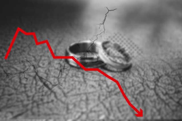 Bodas y divorcios tuvieron la mayor caída en 20 años: INEGI