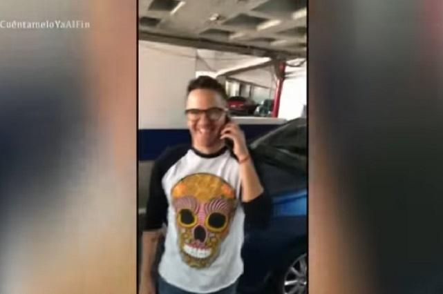 Mauricio Mancera choca al auto de Paul Stanley y así lo dejo