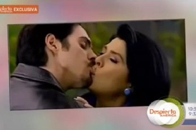 Reviven beso del yerno de Eugenio Derbez a Victoria Ruffo