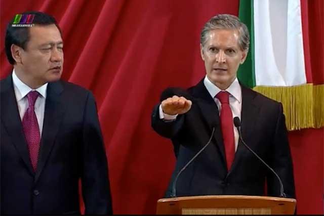 Alfredo del Mazo rinde protesta como gobernador constitucional del Edomex