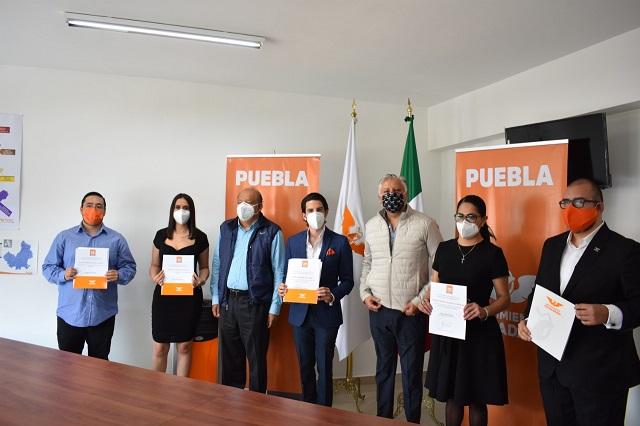 Toman protesta a Comisión  Coordinadora de MC en Puebla capital