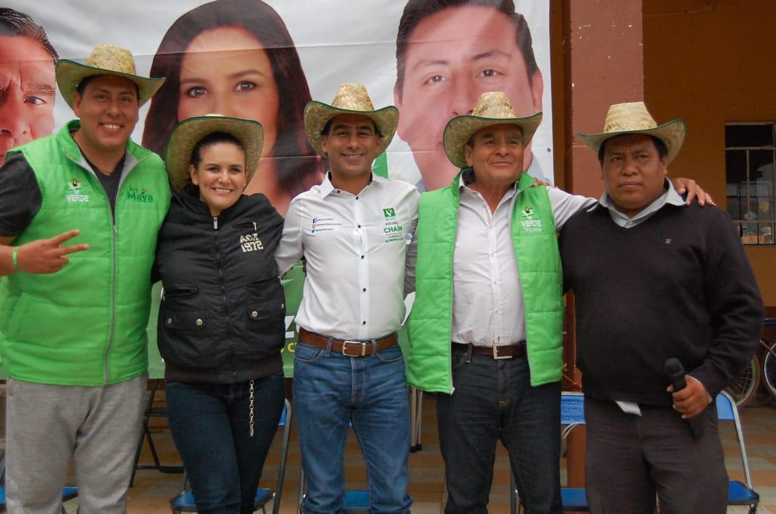 Michel Chaín apoyará a agricultores con maquinaria y comercialización