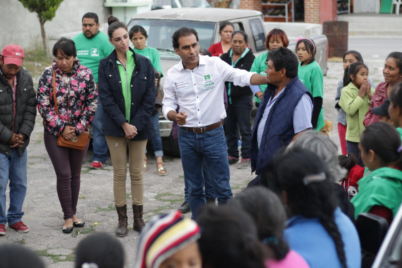 Mejor infraestructura para Acatzingo, plantea Michel Chaín