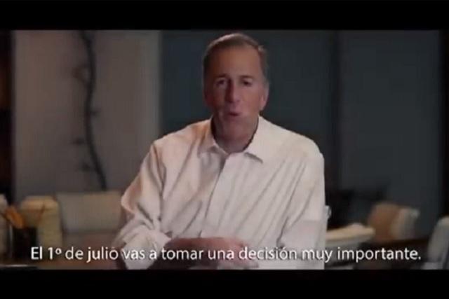 José Antonio Meade lanza spot dirigido a los poblanos