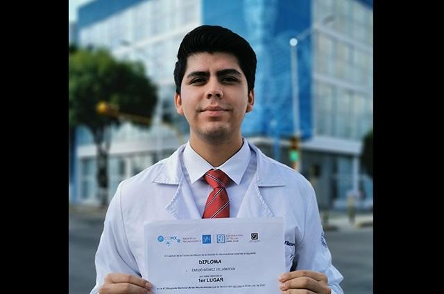 Estudiante de la BUAP gana Olimpiada Nacional de Neurociencias