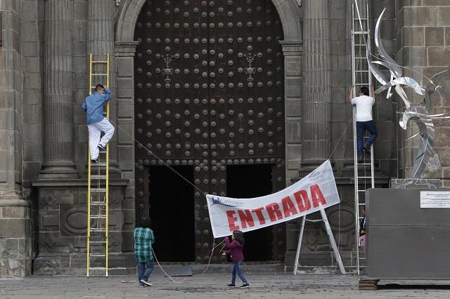 Alistan la Catedral de Puebla y otras iglesias para la reapertura