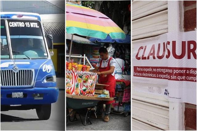 Va recorte a transporte y cierre de negocios por Covid en Puebla