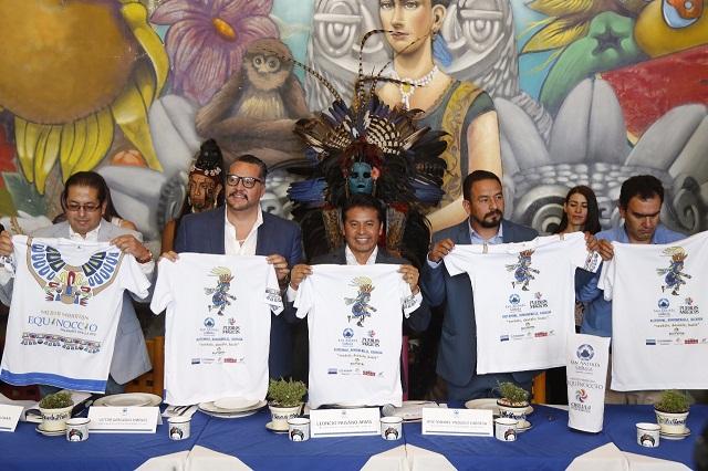 Presentan medio maratón Equinoccio 2018 en San Andrés Cholula