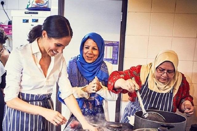 Meghan Markle realiza primer trabajo real desde la cocina