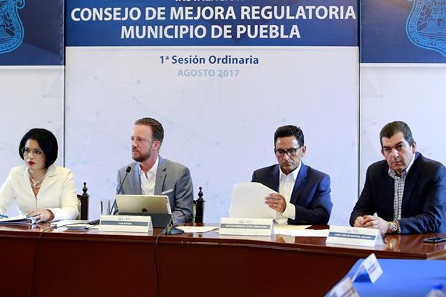 Puebla capital es segundo lugar nacional en Mejora Regulatoria