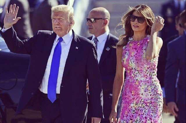 Critican vestimenta de Melania Trump para visitar a afectados por Harvey