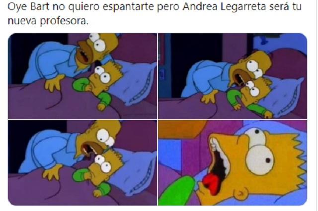 """Memes no perdonan a Andrea Legarreta como """"profesora"""""""