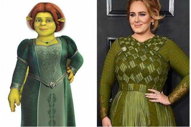 Se burlan con memes de los vestidos de los famosos en los Grammy