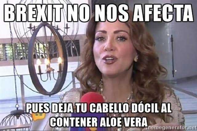 Se burlan de Andrea Legarreta tras Brexit y crean memes