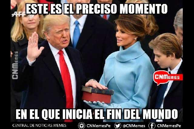 Destrucción y memes, así ven en Twitter el mandato de Donald Trump