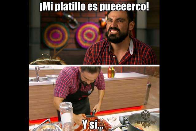 El cerdo, Lolo y Chema protagonizan los memes de MasterChef México
