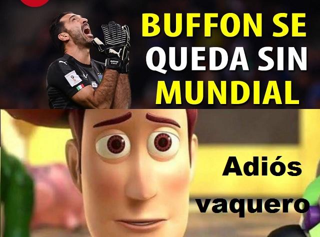 Memes se burlan de Italia y rinden tributo a Buffon