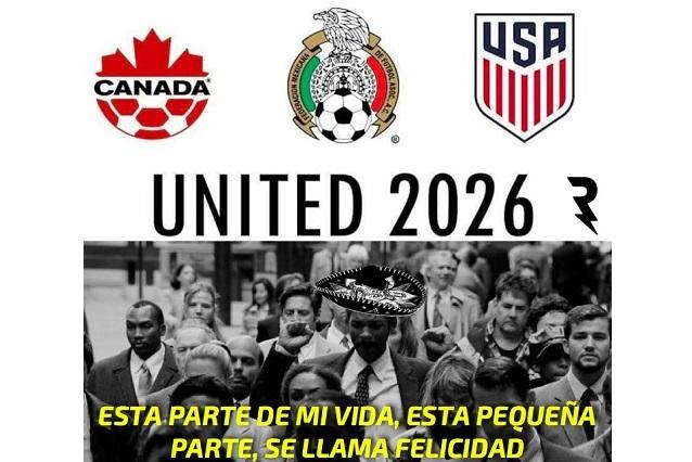 Felicidad y enojo en memes por mundial 2026 de México-EU-Canadá