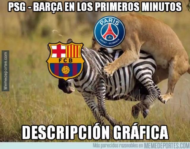 Memes y goles de la masacre del PSG al Barcelona en la Champios League