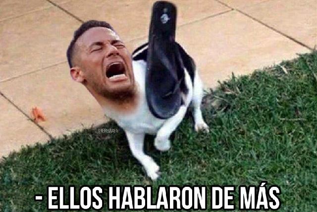 Se burlan con memes Neymar tras derrota y  lo ven rodando al aeropuerto
