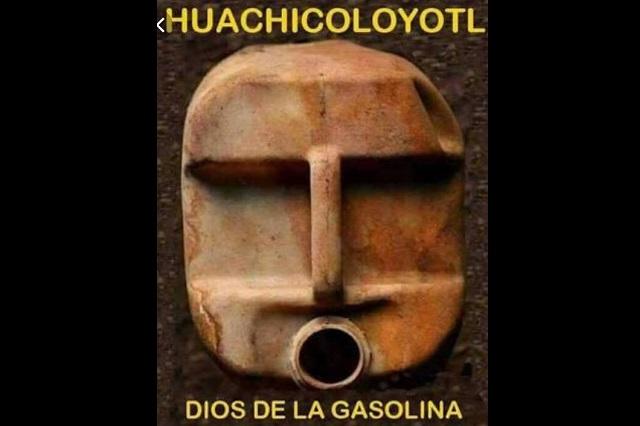 El dios de la gasolina y los memes de la cultura huachicol
