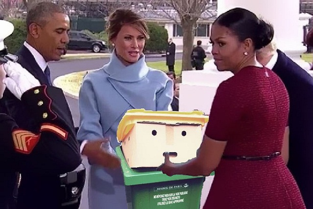 Realizan divertidos memes del bote de basura que comparan con Trump