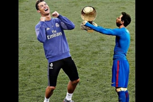 Cristiano Ronaldo gana Balón de Oro y memes se burlan de Messi