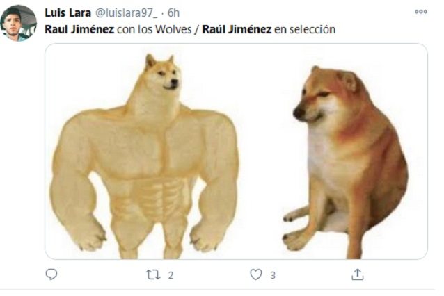 Raúl Jiménez falla y le dedican memes, anota y México gana