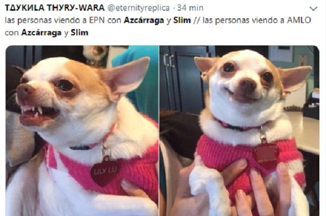 Slim y Azcárraga llegan a mitin de AMLO y los hacen memes fifís