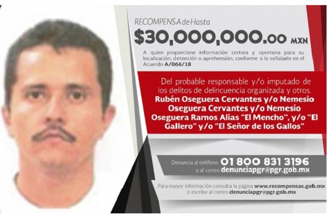 La PGR va tras El Mencho, líder del Cártel Jalisco Nueva Generación