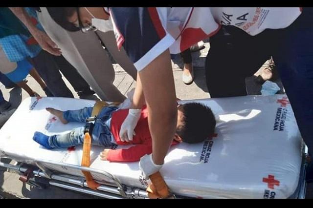 Motociclista atropella a menor de dos años en Atlixco