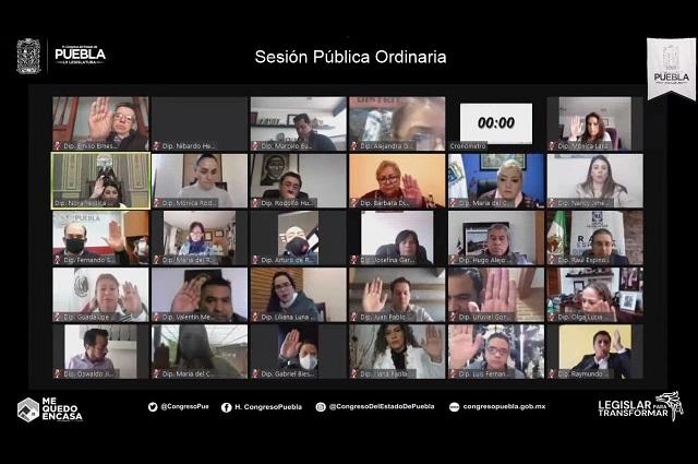 Aprueba Congreso de Puebla menos iniciativas que en 2019