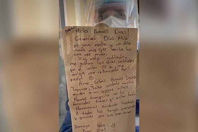 Paciente Covid manda mensaje esperanzador desde el hospital