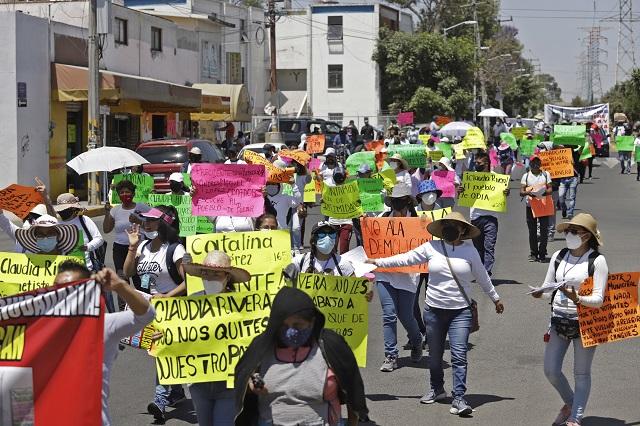 Mantienen oposición a las obras en  el mercado de Amalucan