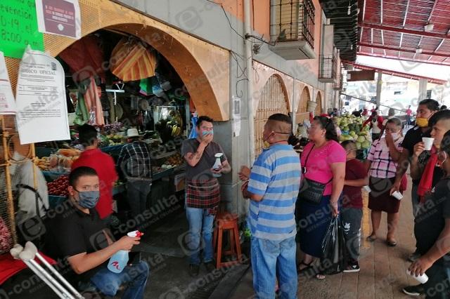 Endurecen medidas para entrar al mercado en Zacapoaxtla