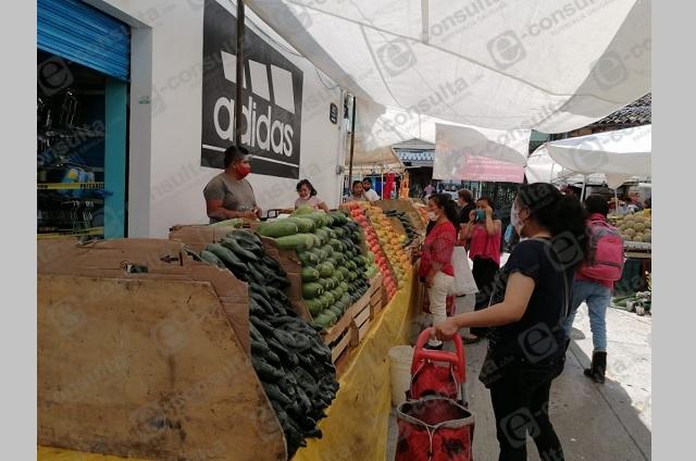De nuevo regresa tianguis a ciudad de Zacapoaxtla