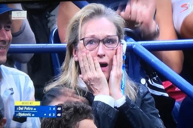 Meryl Streep acapara las miradas en la final del U.S. Open