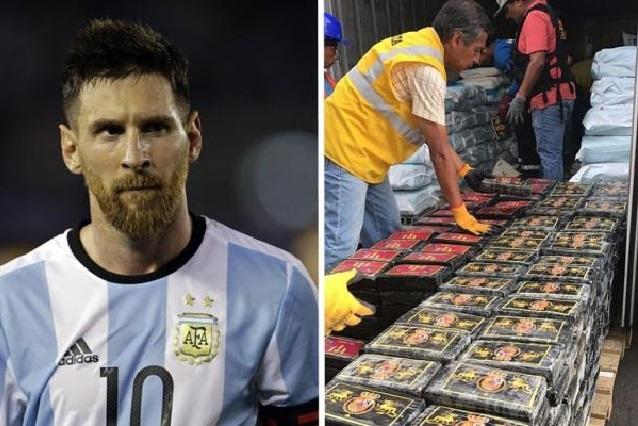 Decomisan en Perú un cargamento de cocaína con la imagen de Messi