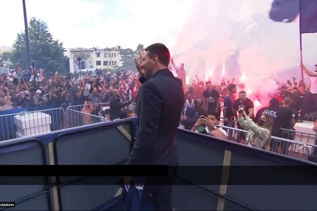 Presentación de Messi con PSG desata la locura en París