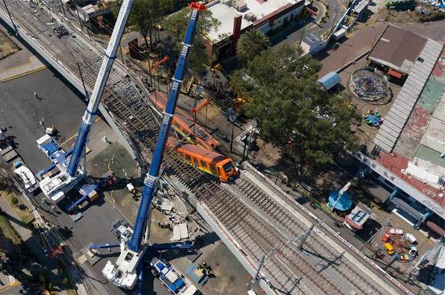 Retiran el primer tramo de vía en zona cero del accidente del Metro en CDMX