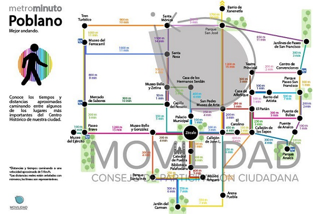 Crean Metrominuto Poblano para fomentar peatonización del centro
