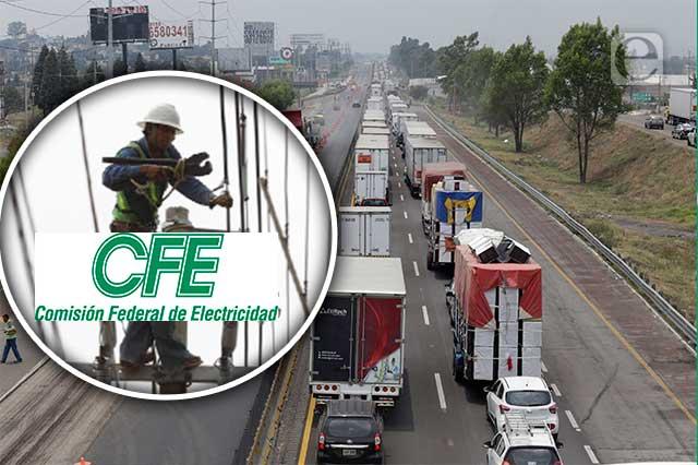 Por obras CFE, breve cierre en autopista México-Puebla