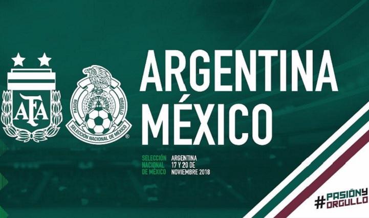 México se enfrentará dos veces a Argentina en Noviembre