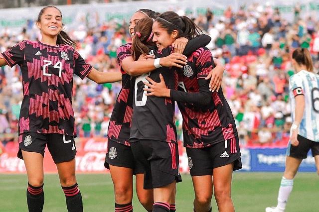 México Femenil destroza a Argentina 6-1 en Jalisco