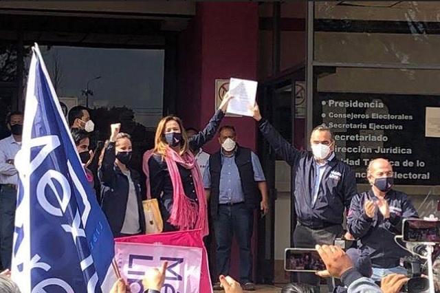 Ante INE, Zavala y Calderón impugnan negativa a México Libre
