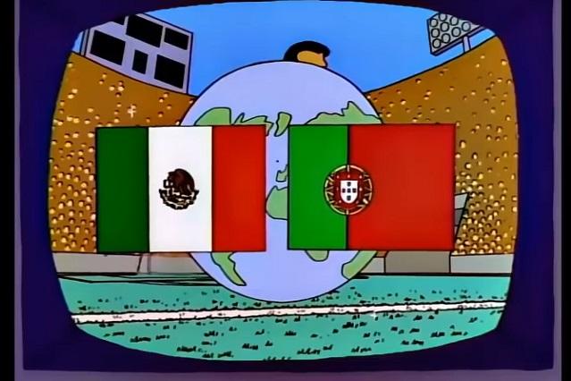 ¿Falló predicción de Los Simpson? México y Portugal no jugarán la final
