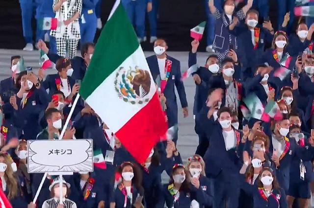 México se presenta en la ceremonia de inauguración de Tokio 2020