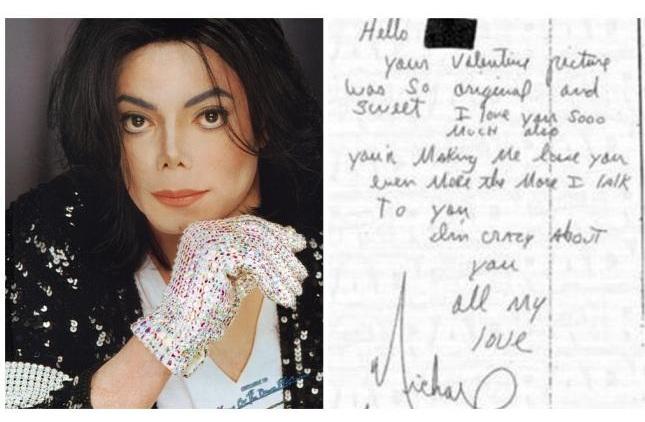 Difunden cartas de amor que dicen Michael Jackson envió a una niña