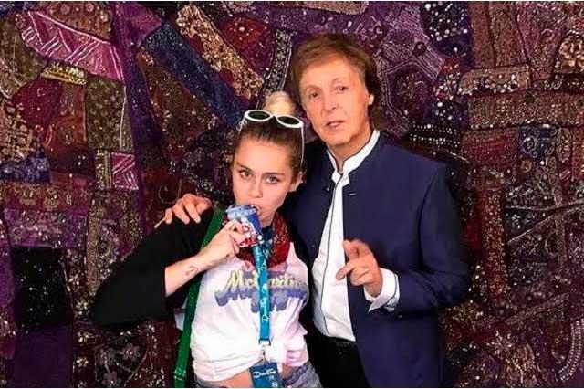 Miley Cyrus se reúne con Paul McCartney y pide apoyo para Clinton